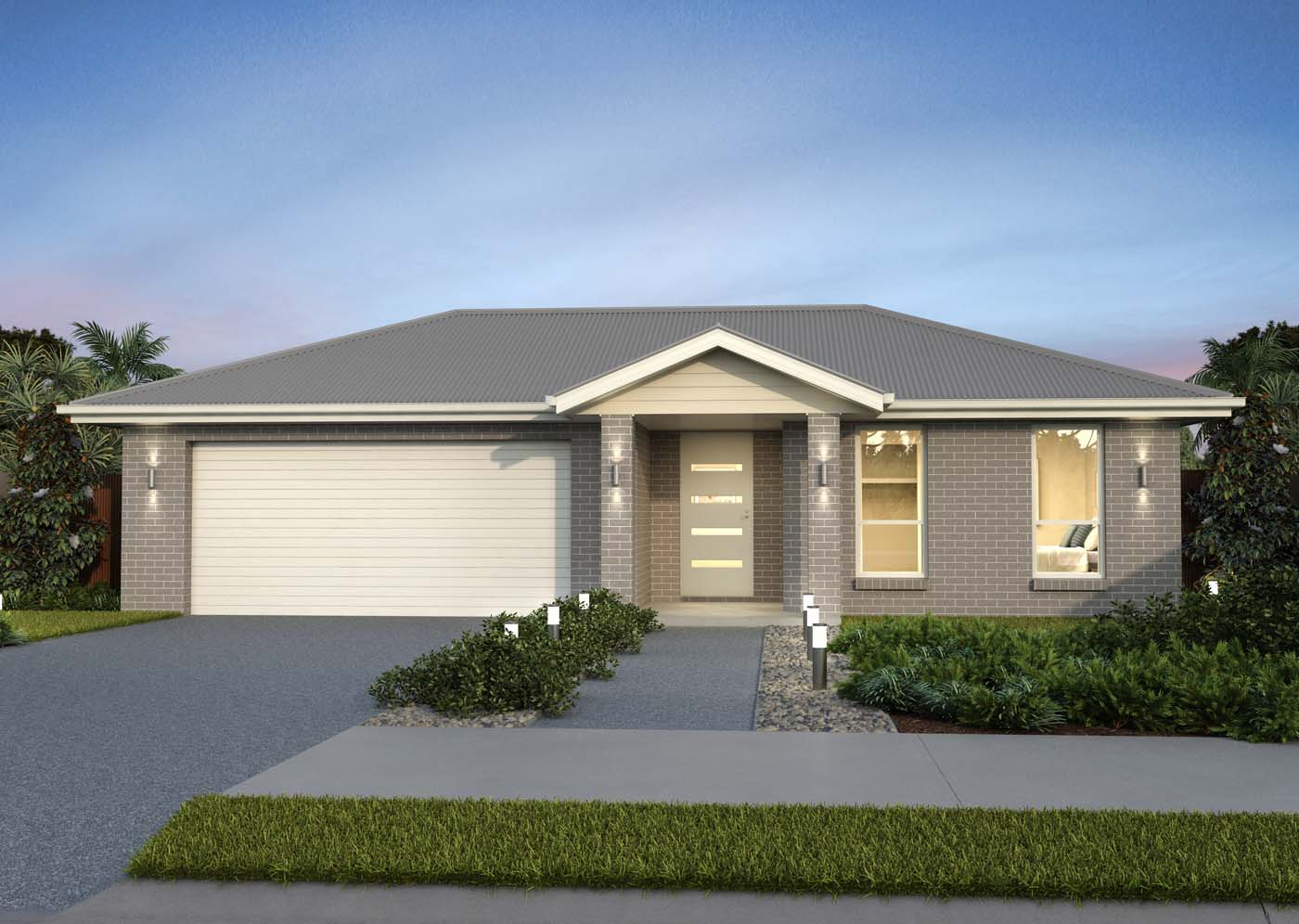 4 bedroom home design single storey house plan fitzroy - Single story 4 bedroom modern house plans ...
